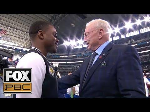 Cowboys owner Jerry Jones talks Spence Jr. vs Garcia, OBJ trade: 'Thank you, thank you' | PBC ON FOX