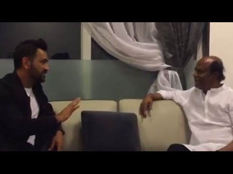 M.S.Dhoni Meets Superstar Rajinikanth In His House.