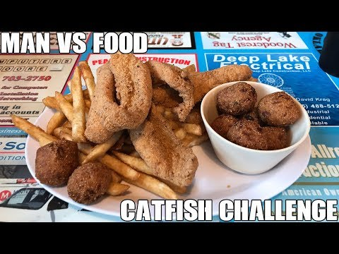 Steak & Catfish Barn Quantity Challenge - Man Vs Food  Oklahoma