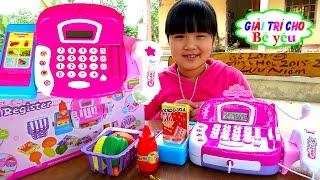 Supermarket Cash Register Kids toys Huyen review Đồ chơi Máy tính tiền siêu thị Giai tri cho Be yeu
