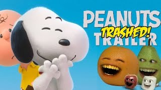 Annoying Orange - PEANUTS TRAILER Trashed!!