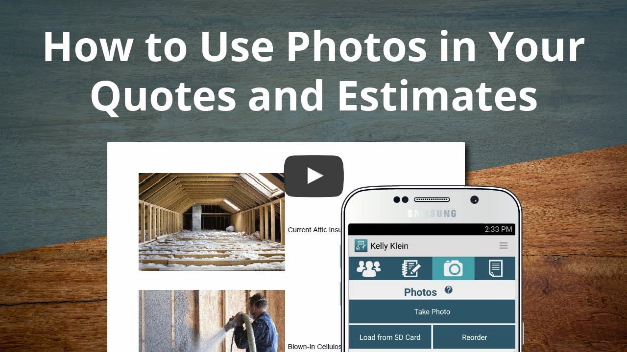 How to Use Photos in Your Quotes and Estimates with JobFLEX