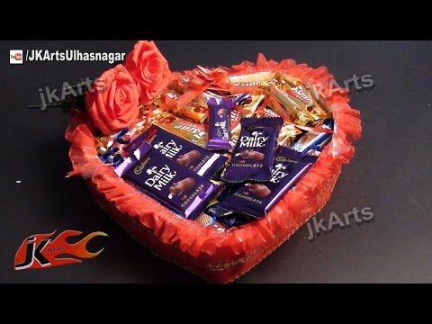 DIY Gift Idea | Chocolate Gift Basket (How to make) | JK Arts 481