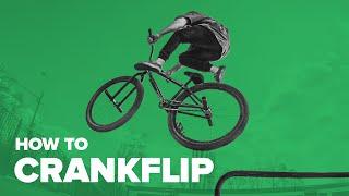 Как сделать крэнкфлип на MTB / BMX. Трюки на велосипеде. How to Crankflip(Крэнкфлип — это полный оборот системы шатунов вокруг оси. Простой и стильный трюк, который добавит изюминк..., 2016-07-15T10:27:56.000Z)