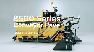 Video still for Leeboy 8500 Series Asphalt Pavers Overview