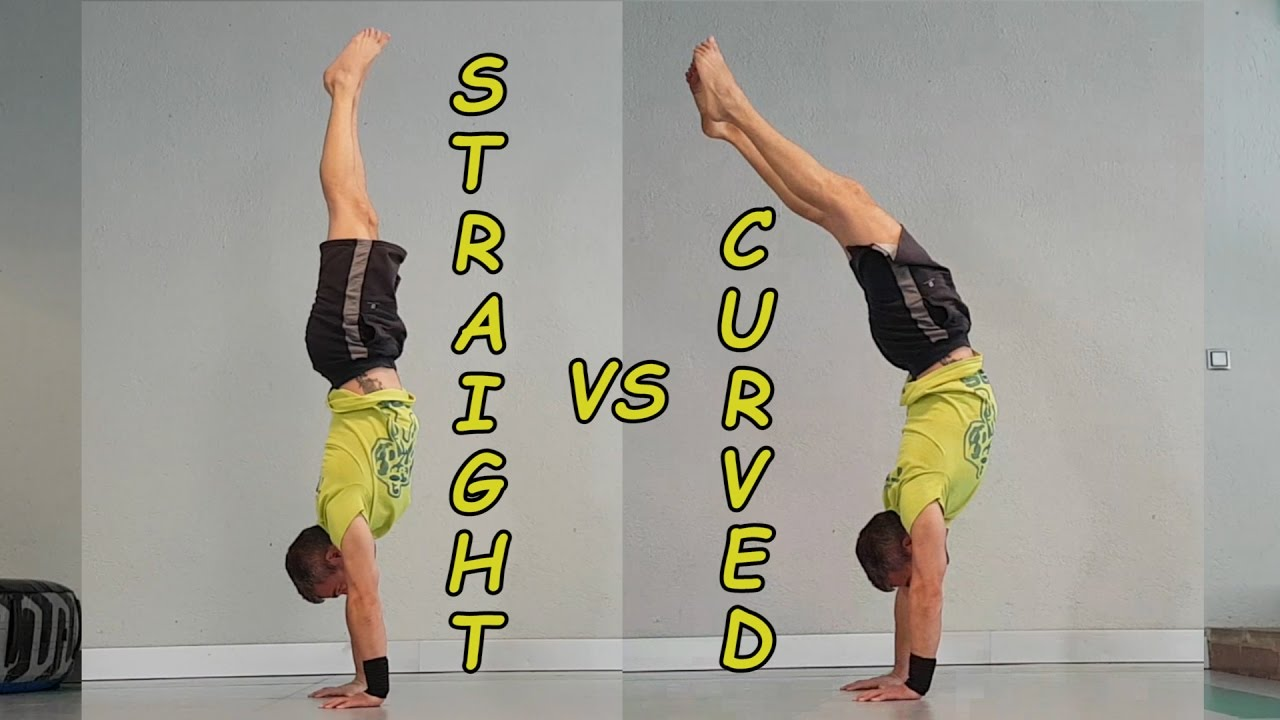 Image result for straight handstand vs banana