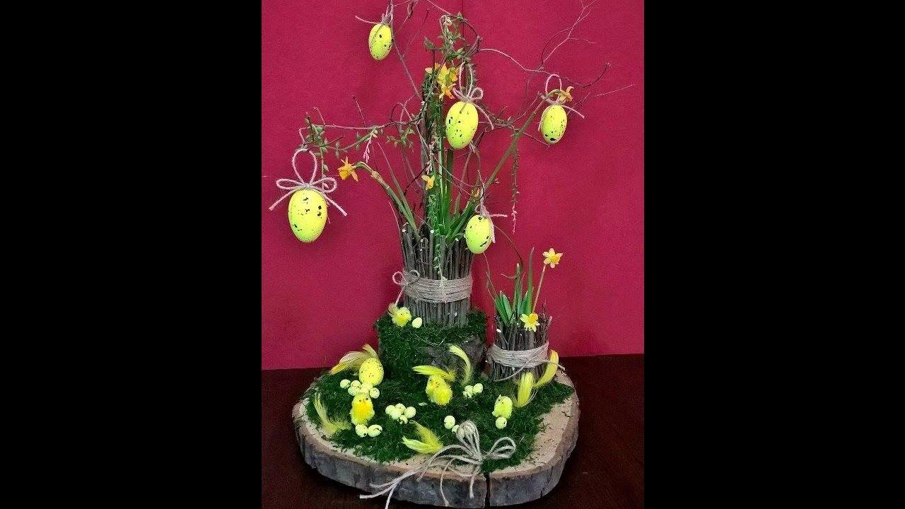 Wiosenny Stroik Wielkanocny Stroik świąteczny Youtube