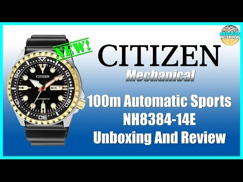 Budget Diver! | Citizen 100m Automatic Sports NH8384-14E Unbox & Review
