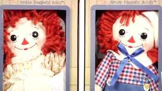Raggedy Ann and Andy Vintage Asleep/Awake Dolls from Aurora