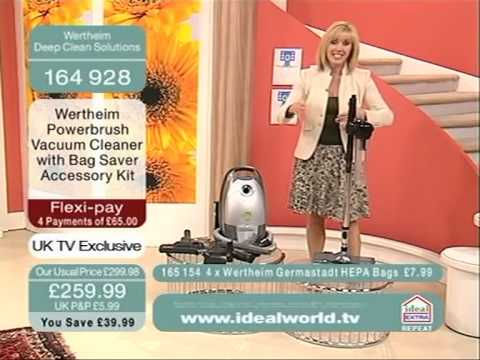 Wertheim Powerbrush Vacuum Cleaner Being Demonstrated On Ideal World Shopping Channel