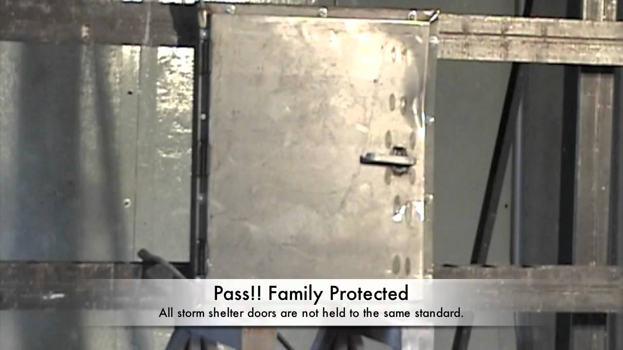 Storm Shelter Door Test & Storm Shelter Door Test - YouTube