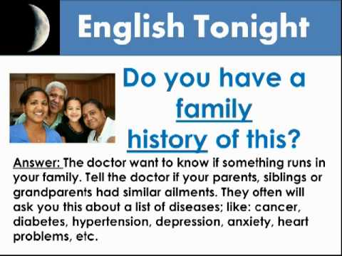 12 Questions Doctors Ask Patients In English