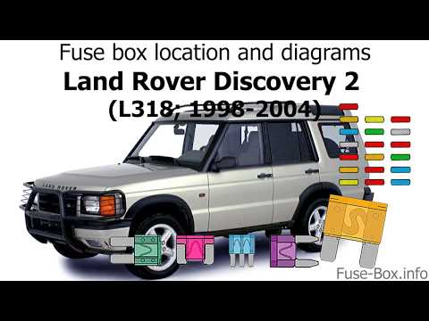 2004 land rover range rover fuse box diagram fuse box location and diagrams land rover discovery 2  1998 2004  land rover discovery