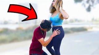Bitting P*ssys in Public (GONE WILD) hot girl prankster - funny videos 2016