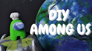 Making AMONG US Miniature Diorama!Polymer Clay Tutorial.Among US как сделать самодельную диораму.