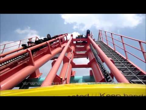 TOP 10 ROLLER COASTERS at CAROWINDS 2015
