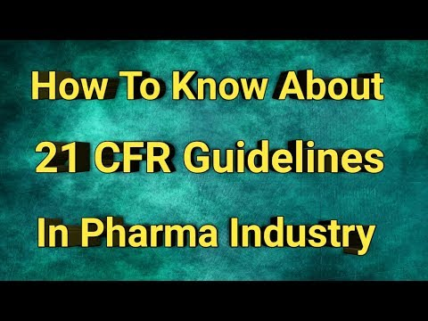 How To Know About  21 CFR Guidelines In Pharma Industry || IN TELUGU || Pharma Guide