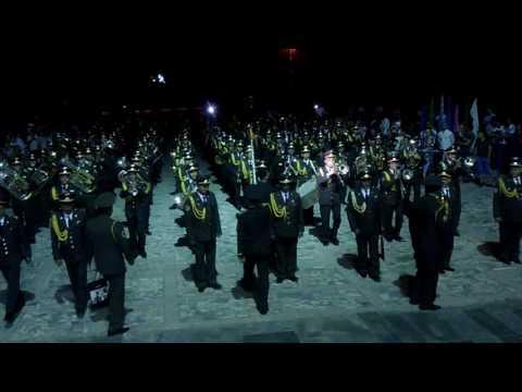 """Сводный военный оркестр Министерства обороны Узбекистана. Марш """"Прощание славянки"""""""