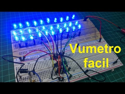 Electronica practica y basica #4: Vumetro led lm3915 facil d