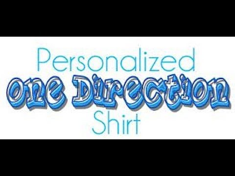 How To Make A One Direction Shirt