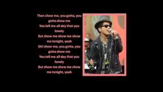 Show Me - Bruno Mars (LYRICS/LETRA)