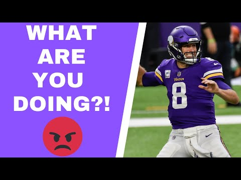 Kirk Cousins should've been benched by Minnesota Vikings