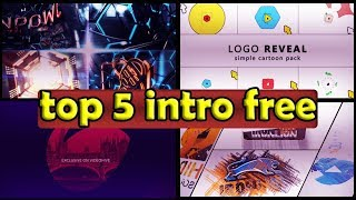 Top 5 intro logo Template Free After Effects Project Files 2018 ????