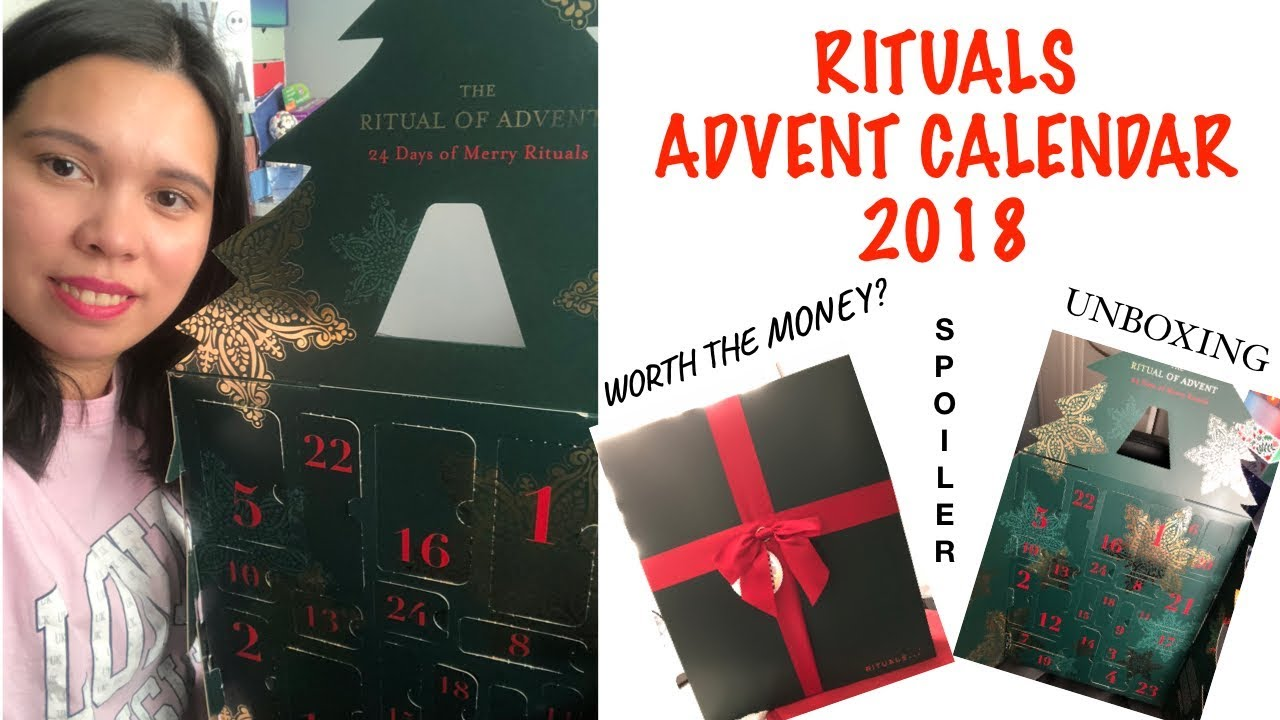 Calendrier Rituals 2018 Spoiler Ritual Advent Calendar 2018 Worth The Money Unboxing