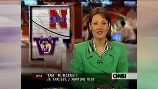 1997 Nebraska vs Washington pregame - Trev Alberts interviews Scott Frost -