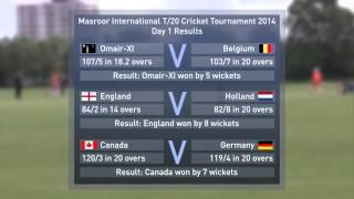 Masroor International Cricket Tournament 2014 - Results Update