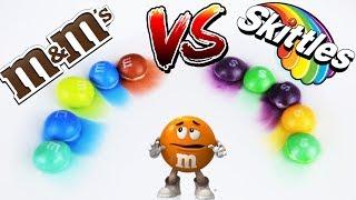 Skittles VS M&M's ВЫЗОВ! Пробуем сделать радугу! 100% результат!