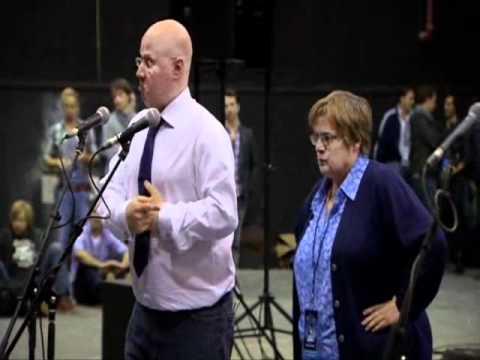 Les Mis - Matt Lucas and Alfie Boe at rehearsal