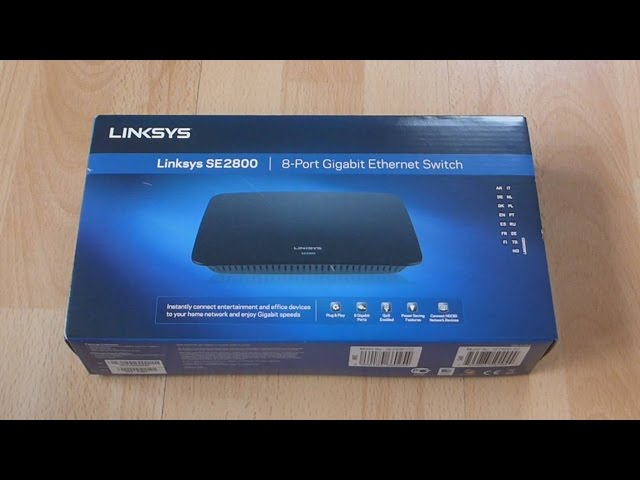 Linksys SE2800 8-Port Gigabit Ethernet Switch Switches Networking ...