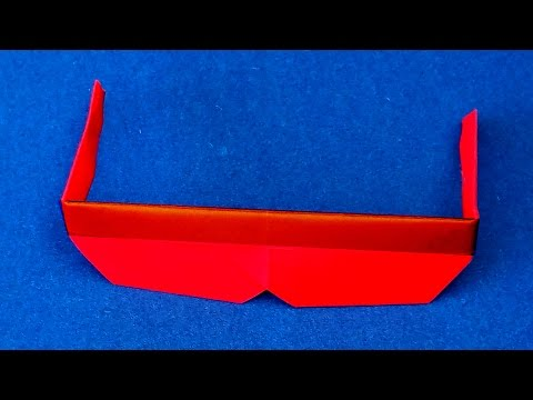 Origami Sunglasses With Frames.  How to fold Origami Sunglasses with Frames