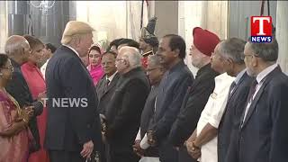 CM KCR at Rashtrapati Bhavan | Attending Dinner in Honour of US President Donald Trump