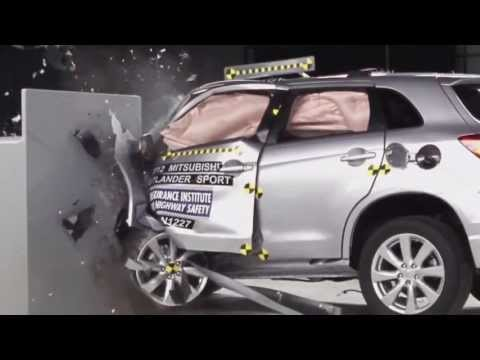 IIHS - 2012 Mitsubishi Outlander Sport /ASX/ small overlap crash test / ACCEPTABLE EVALUATION /
