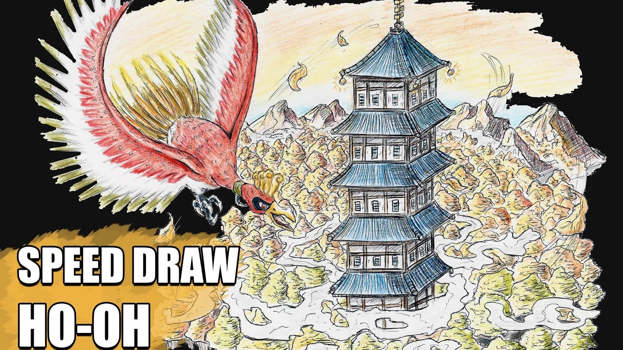 how to draw ho oh