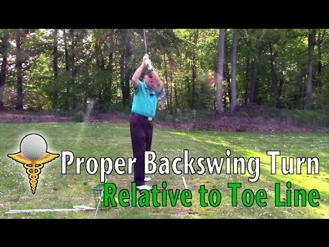 Defining the Correct Backswing Turn Relative to Toe Line in the Golf Swing - Don Trahan