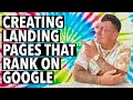 How to Create a Landing Page that Ranks on Google | 5 SEO Tips for Optimizing