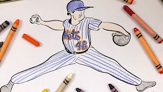 "LEARN TO DRAW JACOB DEGROM! ""ART CLASS WITH HERM!"" : EPISODE 010"