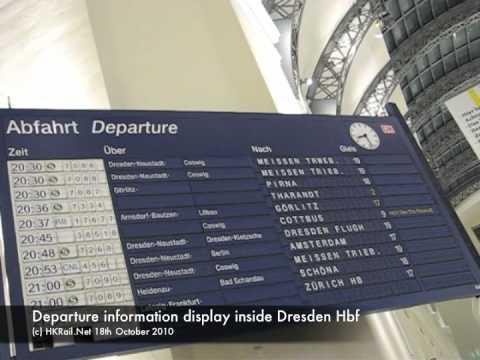 [101018] DE - Departure information display inside Dresden Hbf