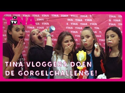 MYLÈNE, ROSANNE, GIOIA en MEGAN doen een GIGAGRAPPIGE GORGEL HET LIEDJE CHALLENGE | TinaTV