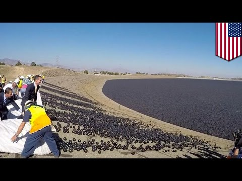 Los Angeles battles drought by releasing millions of shade balls into reservoirs