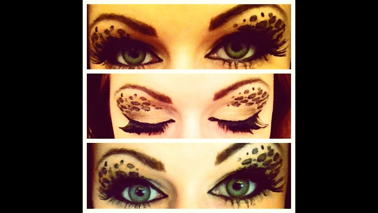 Leopard Print Eyeshadow Makeup Tutorial Youtube