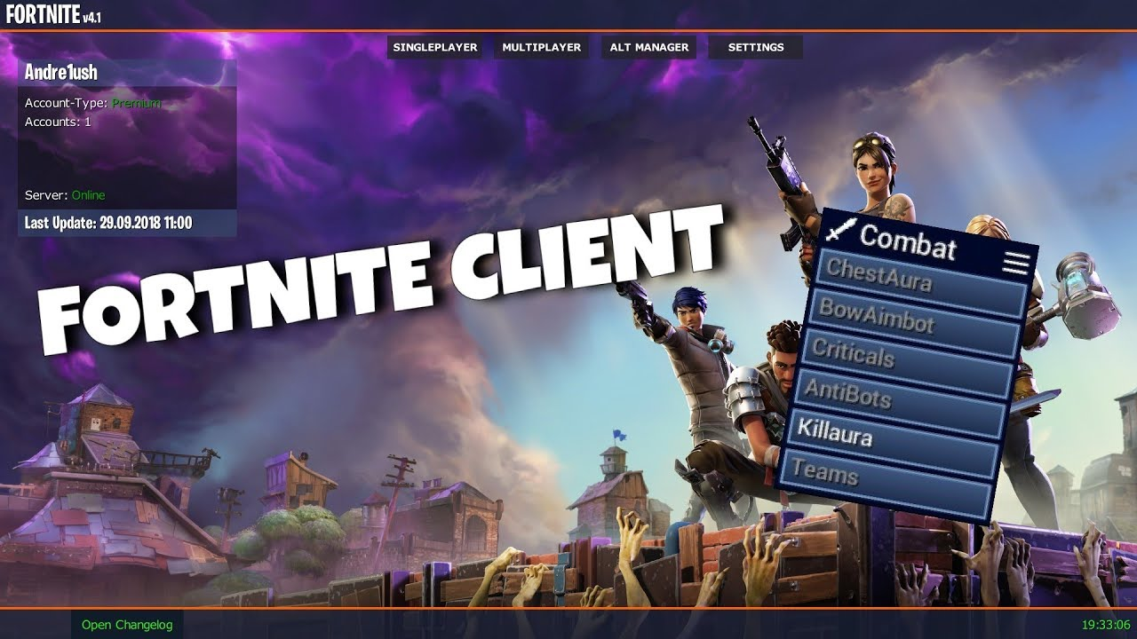 Fortnite Client minecraft fortnite hack client review! - youtube