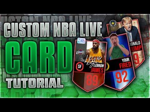 HOW TO MAKE CUSTOM NBA LIVE MOBILE CARDS! TUTORIAL + TEMPLATES!