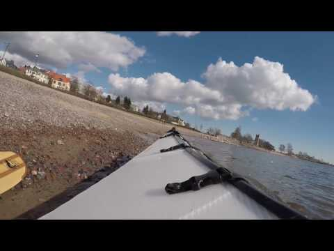 Kayaking in Helsinki Eiranranta 6.3.2017