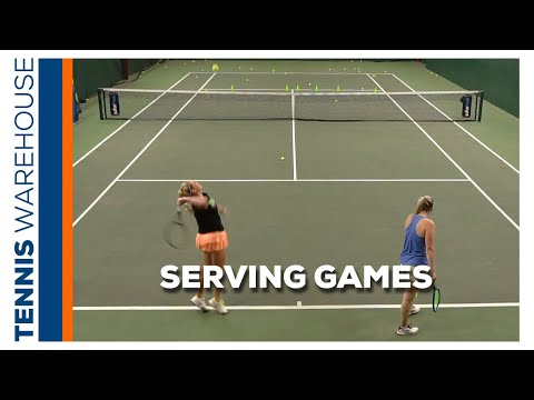 Improve Your Tennis With Our Weekly Drill: Serving Games (easy Ways To Improve Your Serve) 🔥