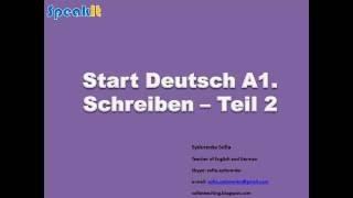 Start Deutsch A1   Schreiben Teil 2 Briefe ENG