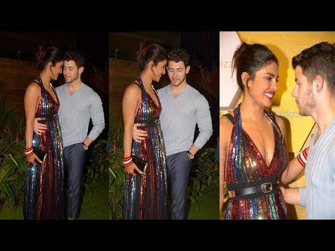 Newly Wed Couple Priyanka Chopra & Nick Jonas Cant Stop Loving eachother At Party in Mumbai Mp3
